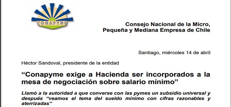 Declaración Conapyme Salario Mínimo