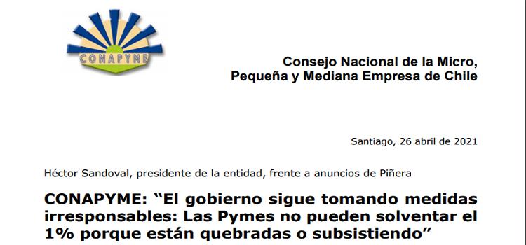 Declaración frente a Medidas de Gobierno.